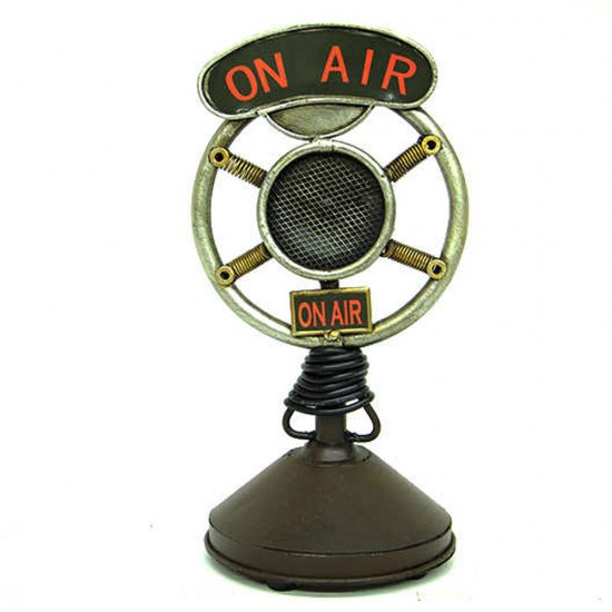 Dekoratif Nostaljik Metal Mikrofon