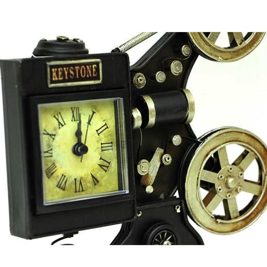 Dekoratif Nostaljik Metal Sinemaskop Saat