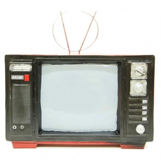 Dekoratif Nostaljik Televizyon Kırmızı
