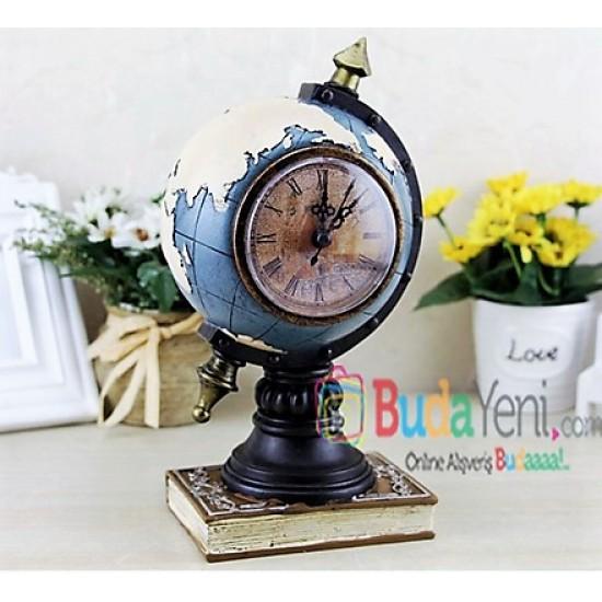 Dekoratif Vintage Dünya Haritası Saat
