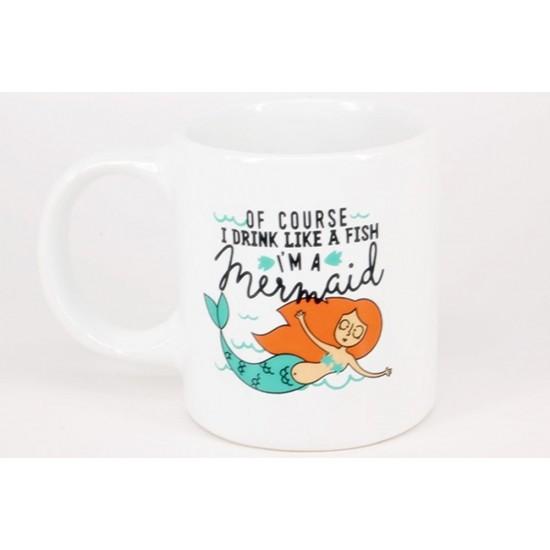 Deniz Kızı Temalı Kupa Bardak