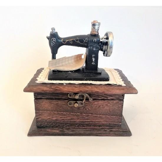 Dikiş makinesı temalı müzik ve Takı  kutusu model 1