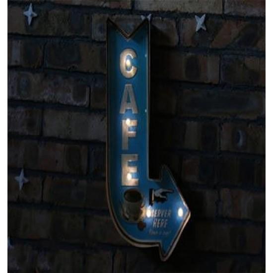 Duvar Askılı Dekoratif Cafe Tabela Lamba