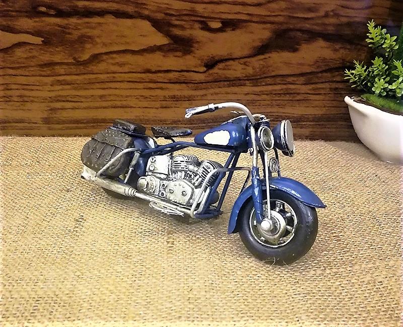 el yapimi metal mavi motosiklet