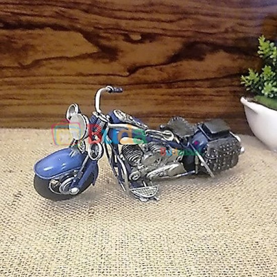 El Yapımı Metal Mavi Motosiklet