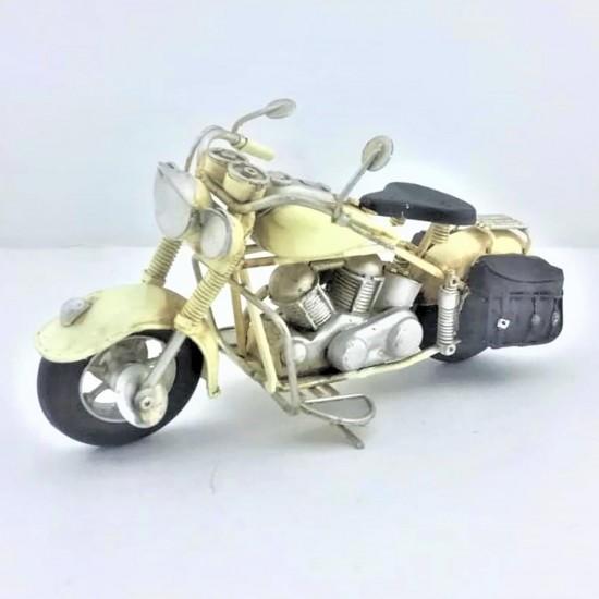 Elyapımı  Metal Beyaz Motorsiklet