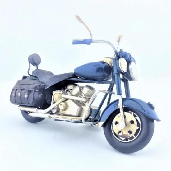 Elyapımı  Metal Mavi  Motorsiklet