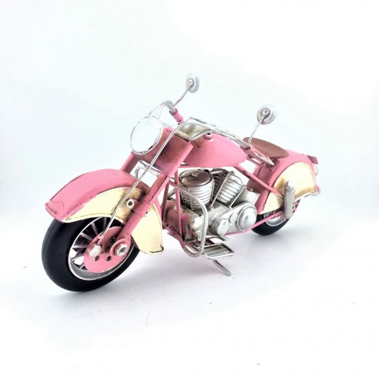 Elyapımı Metal Pembe  Sindecar Motorsiklet Büyük Boy
