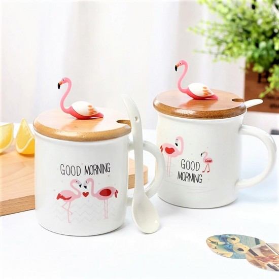 Flamingo Temalı Kupa Seramik Kupa Bardak