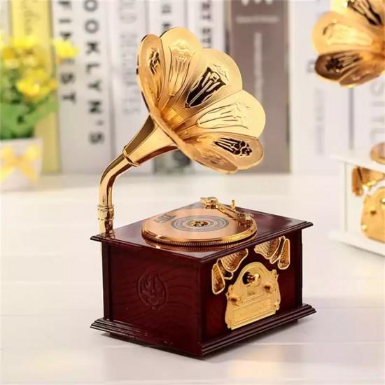 Gramofon Şekilli Müzik Kutusu