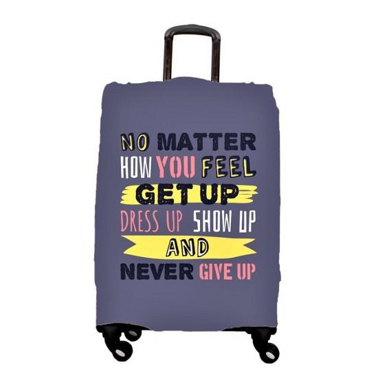 Gri Yazı Temalı My Luggage Valiz Kılıfı