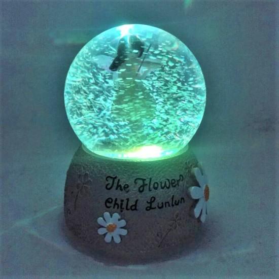Işıklı Keman Calan Kız Temalı Kar Küresi Ve Müzik Kutusu