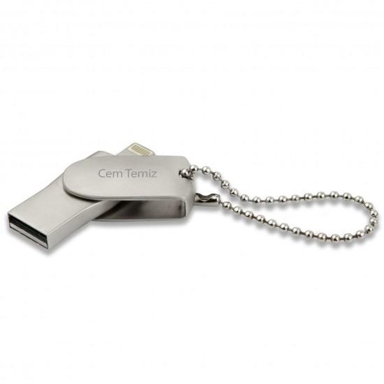 İsme Özel Anahtarlık Usb Bellek 16GB Metal