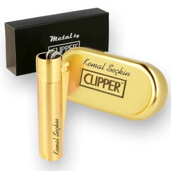 İsme Özel Clipper Çakmak Gold