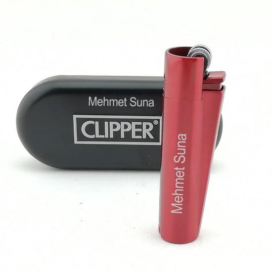 İsme Özel Clipper Çakmak Kırmızı