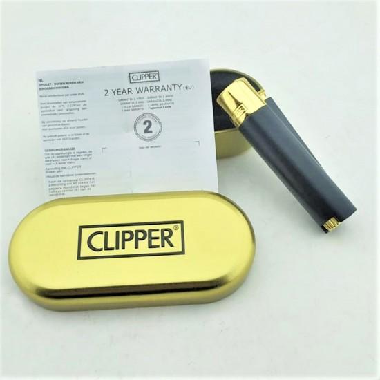 İsme Özel Clipper Çakmak Siyah/Gold