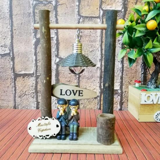İsme Özel Dilek Tutan Aşıklar Işıklı Sevgili Biblosu