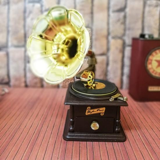 İsme Özel Gramofon Müzik kutusu