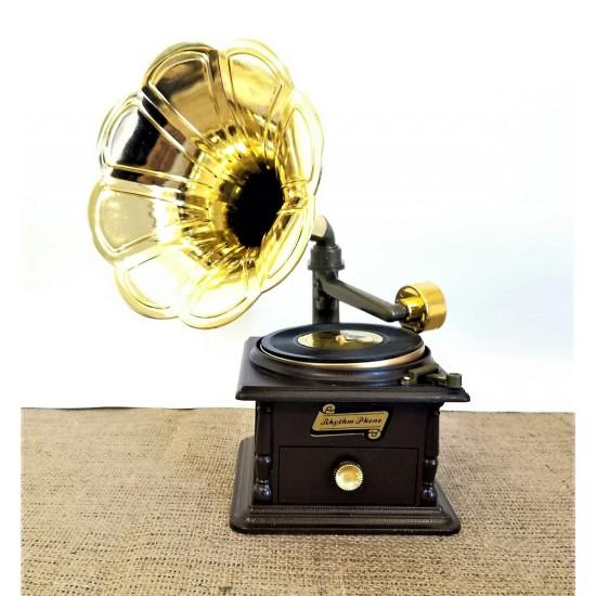 Gramofon Müzik kutusu (Ahşap rengi)