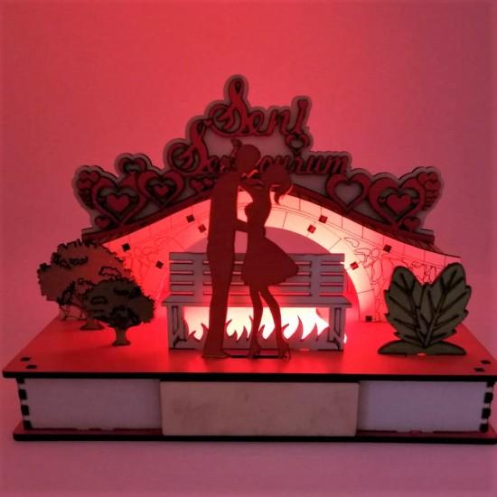 İsme Özel Işıklı Aşk Bahçesi