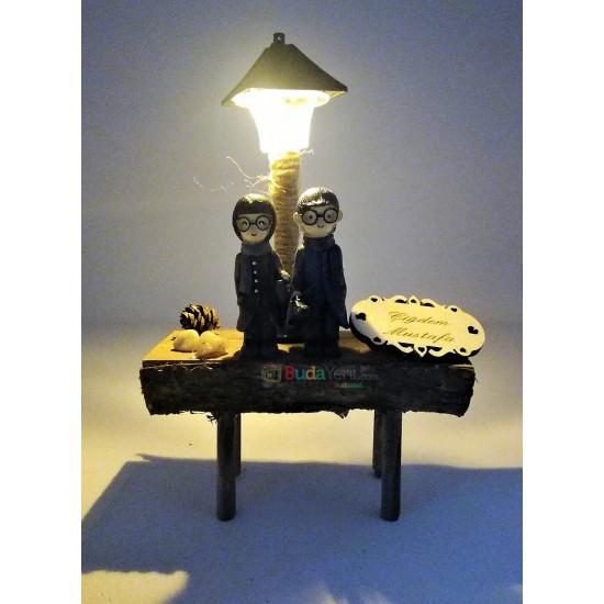 İsme Özel Işıklı Sevgili Biblosu model 2