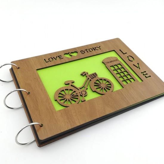 İsme Özel Love Story - Bisiklet ve Telefon Kulübesi Temalı Foto Albüm
