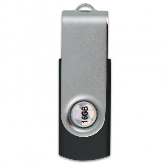 İsme Özel Metal Usb Bellek 16 GB Siyah