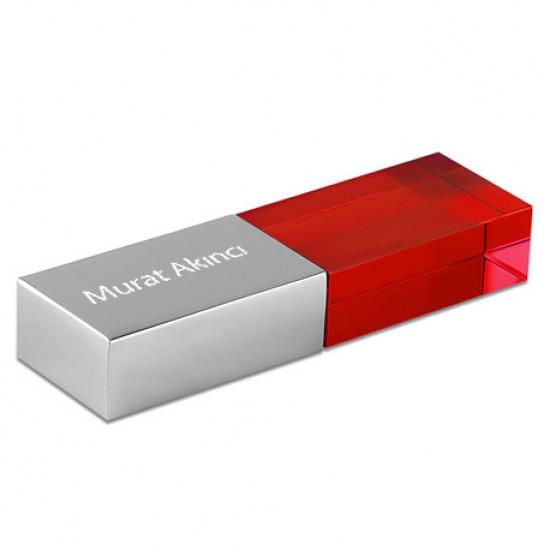 İsme Özel Metal kapaklı Işıklı Usb Bellek 32GB