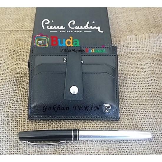 İsme Özel Pierre Cardin Kartlık (Siyah) 0143