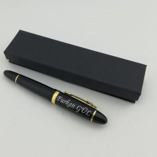 Kişiye Özel  Siyah Dolma Kalem