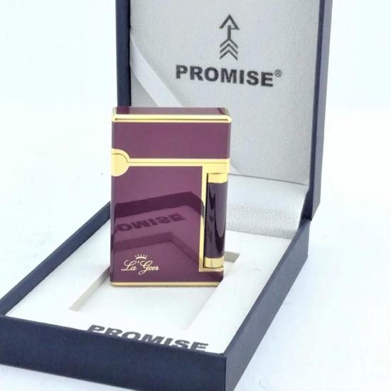 İsme özel Promise Markalı Kapaklı Bordo Renkli Çakmak Exclusive