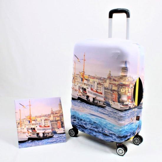 İstanbul  Temalı My Luggage Valiz Kılıfı