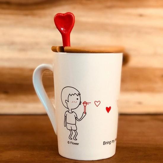 Kalbim Senin İçin Atıyor Özel Tasarım Aşk Kupası