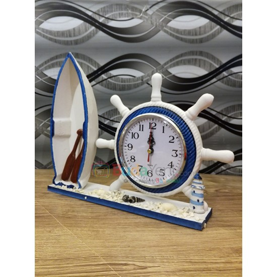 Kayık Temalı Masa Saati
