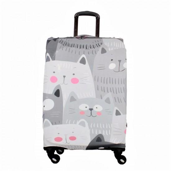 Kedi Temalı My Luggage Valiz Kılıfı