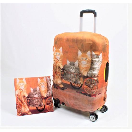 Kediler Temalı My Luggage Valiz Kılıfı