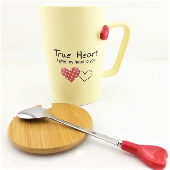 Kişiye Özel True Heart Gerçek Yürek Tasarımlı Kupa