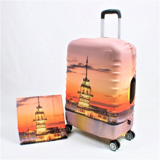 Kız Kulesi  Temalı My Luggage Valiz Kılıfı