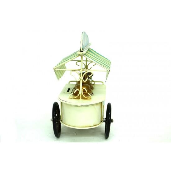 Kumbaralı Metal Dondurma Arabası