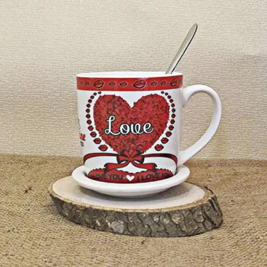 Love Baskılı Kupa Bardak
