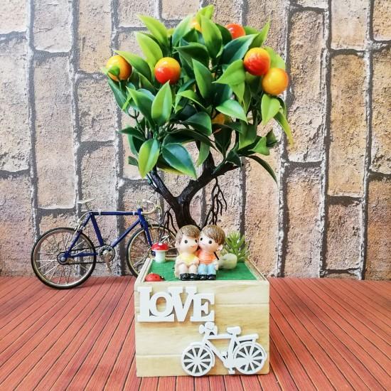 Love bisiklet temalı biblo