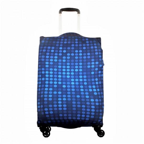 Mavi Puantiye Temalı My Luggage Valiz Kılıfı