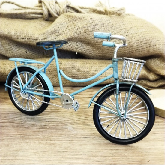 Metal Mavi Bisiklet Nostalji