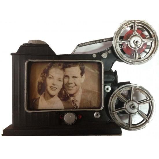 Metal Nostaljik Film Makinesi Resim Çerçevesi