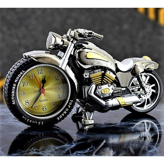 Motorsiklet Tasarımlı Dekoratif Masa Saati