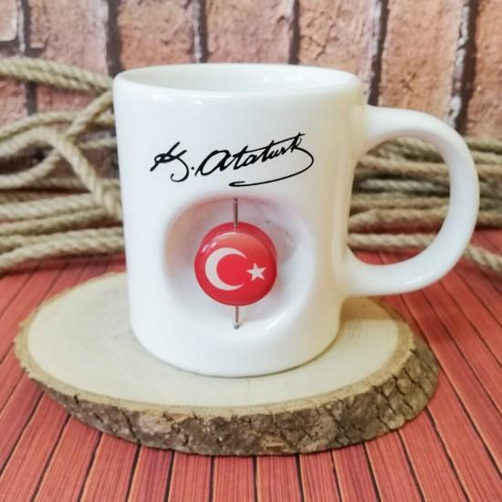Mustafa Kemal Atatürk Figürlü Kupa bardak