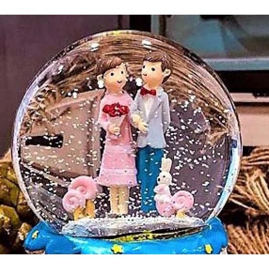 Mutlu Çiftler Kar Küresi ve Müzik Kutusu