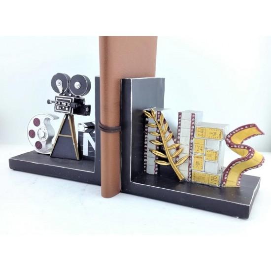 Nostaji Film Projektör Makinesi Tasarımlı Kitap Tutucu