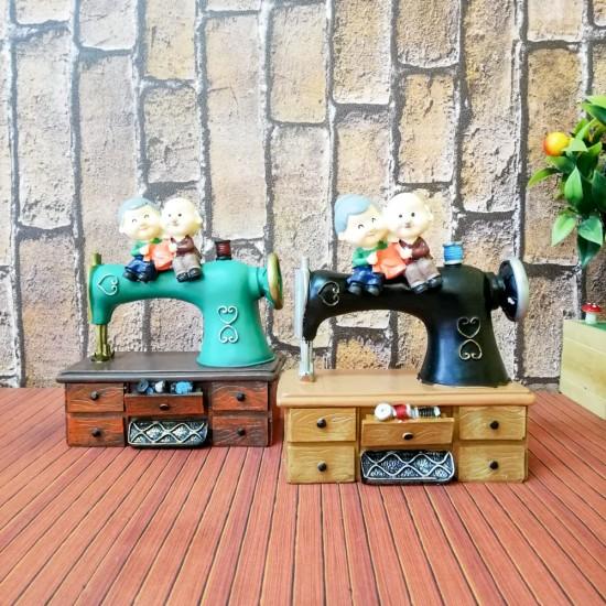 Nostajik Dikiş Makinası Temalı Dede Nine Kumbara