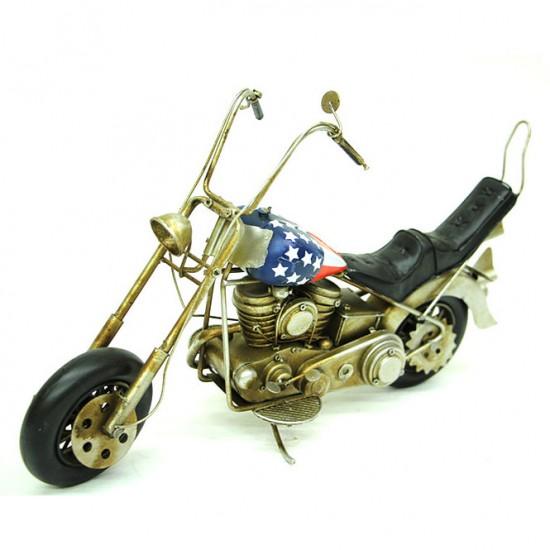 Nostaljik Chopper Metal Motosiklet